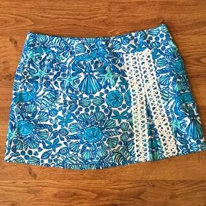Lilly Pulitzer Blue Sailors Valentine Jarvey Skort